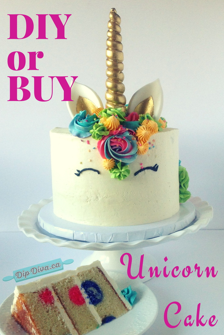 Unicorn Cake Should You Diy Or Buy The Dip Diva Dishes